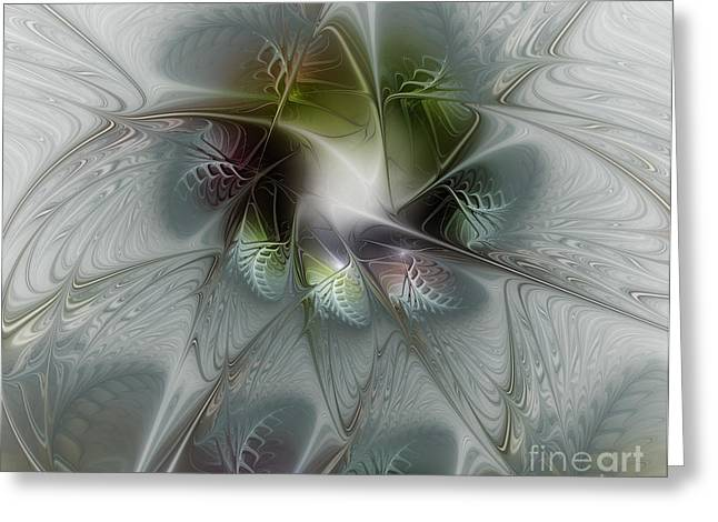 Large Sized Greeting Cards - Ice Flower Greeting Card by Karin Kuhlmann
