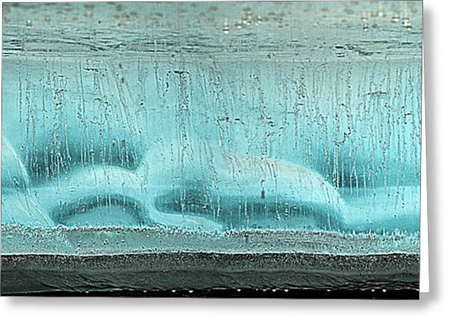 Ice Formation Panorama Along Kongakut Greeting Card by Tom Norring