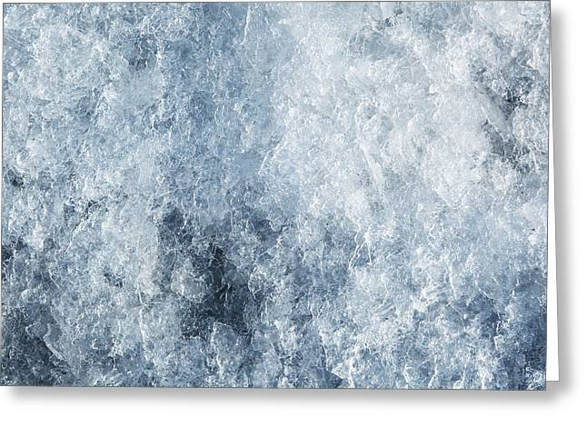 Frozen Drink Greeting Cards - Ice frozen background Greeting Card by Michal Bednarek