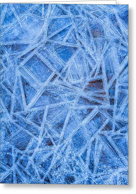 Lines And Shape Greeting Cards - Ice Geometric Greeting Card by Jeff Sinon