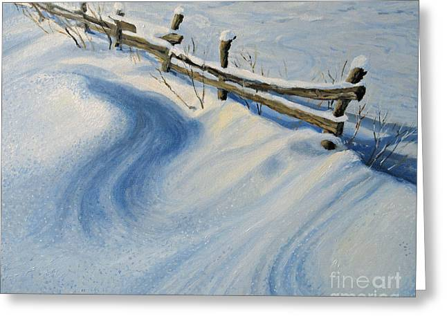 Winter Prints Paintings Greeting Cards - Ice Glitter Greeting Card by Kiril Stanchev