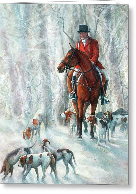 Recently Sold -  - Dogs In Snow. Greeting Cards - Ice Hounds Greeting Card by Robyn Ryan
