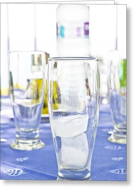 Al Fresco Greeting Cards - Ice in a glass Greeting Card by Tom Gowanlock