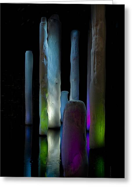 Dream Scape Photographs Greeting Cards - Ice Lighted Greeting Card by Ivete Basso