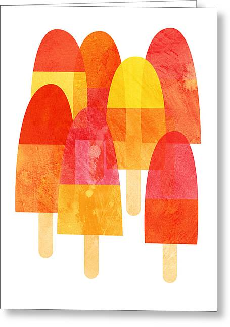 A Hot Summer Day Greeting Cards - Ice Lollies Greeting Card by Nic Squirrell