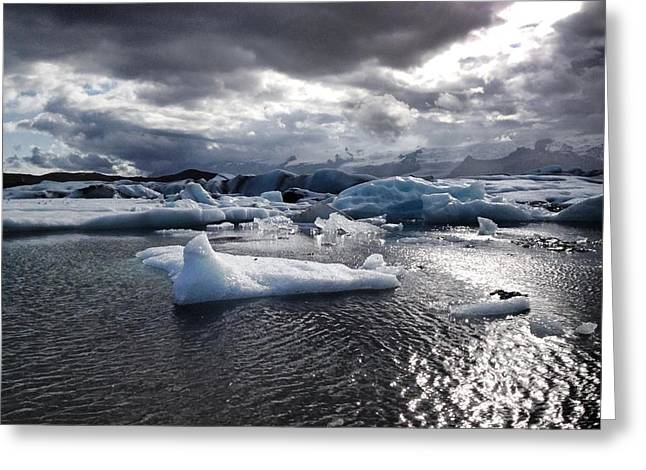 Michael Fitzpatrick Greeting Cards - Ice Greeting Card by Michael Fitzpatrick