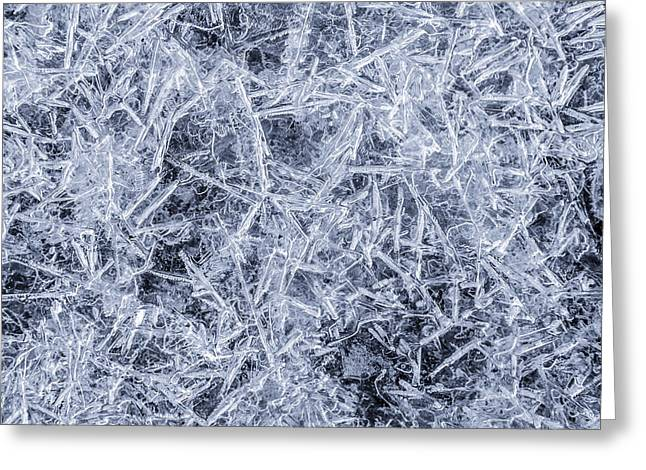 Shatter Greeting Cards - Ice on Minnehaha Creek  Greeting Card by Jim Hughes
