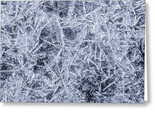 Ice On Minnehaha Creek  Greeting Card by Jim Hughes