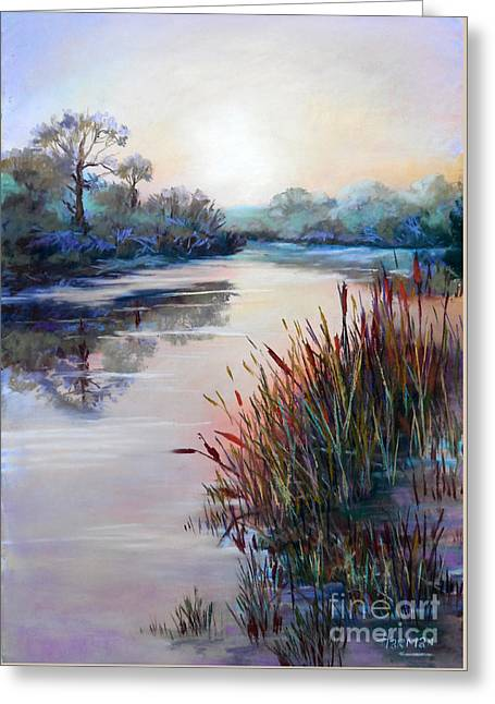 Tranquil Sculptures Greeting Cards - Ice on the Canal Greeting Card by Heather Harman