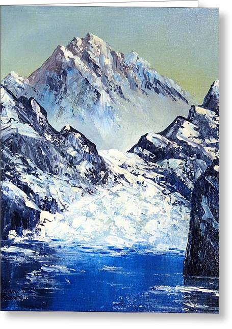 Ice On The Rocks Greeting Card by Kenny Henson
