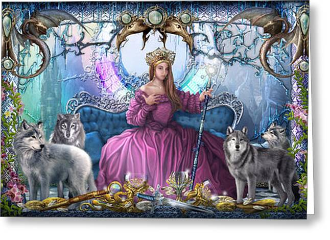Wolf Woman Greeting Cards - Ice Palace Greeting Card by Ciro Marchetti