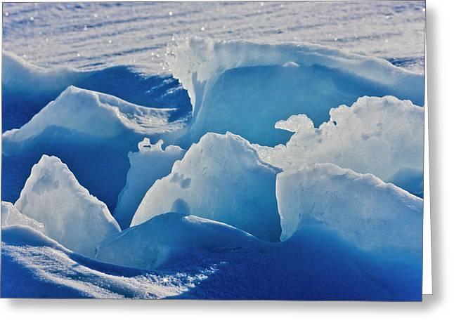 Ice Pattern, Iles De La Madeleine Greeting Card by Keren Su