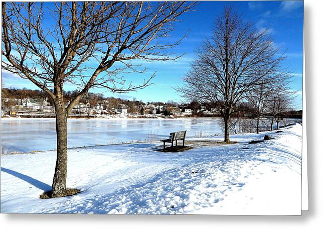 Snow Scence Greeting Cards - Ice Reflections Greeting Card by Kathleen Sartoris