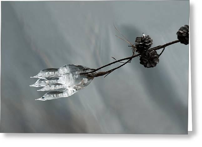 Ice Sculpture Greeting Cards - Ice Sculpture 1 Greeting Card by Lara Ellis