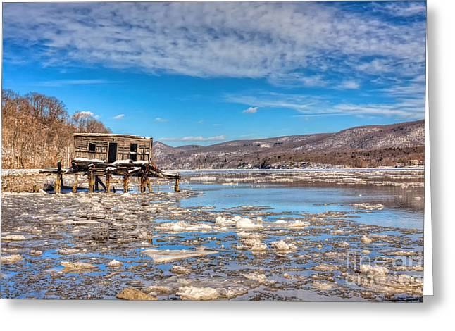 Shack Greeting Cards - Ice Shack Greeting Card by Rick Kuperberg Sr