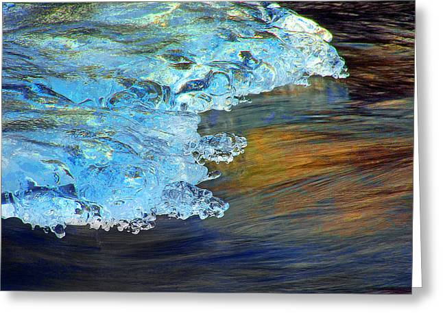 Philosophical Movement Greeting Cards - Ice Shelf Greeting Card by Mike Flynn