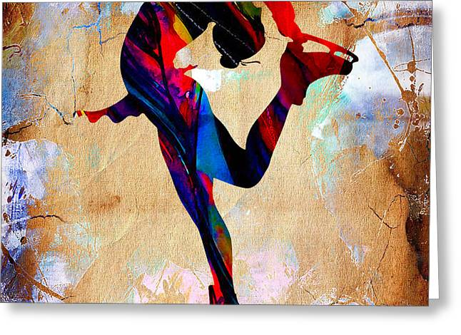 Ice-skating Mixed Media Greeting Cards - Ice Skater Greeting Card by Marvin Blaine