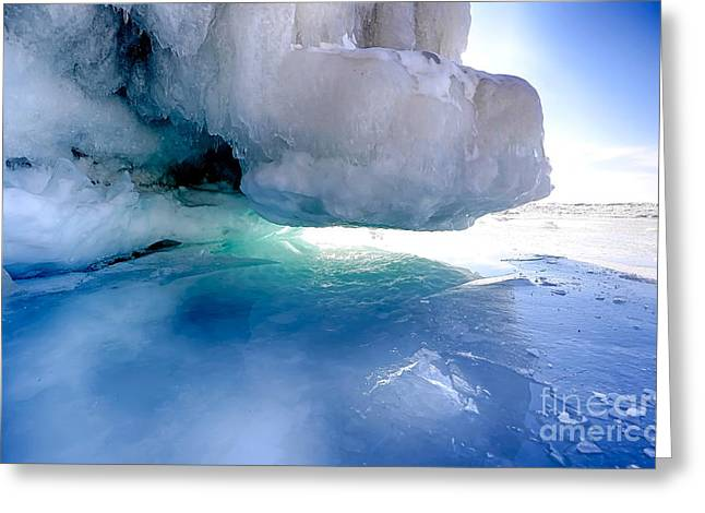 Caves Greeting Cards - Ice Stomp Greeting Card by Bryan Benson