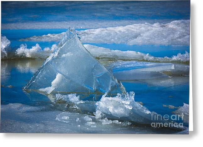 Triangular Greeting Cards - Ice Triangle Greeting Card by Inge Johnsson