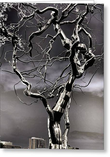 Nature Abstract Sculptures Greeting Cards - Ice Veins in the Sky Greeting Card by Joenne Hartley