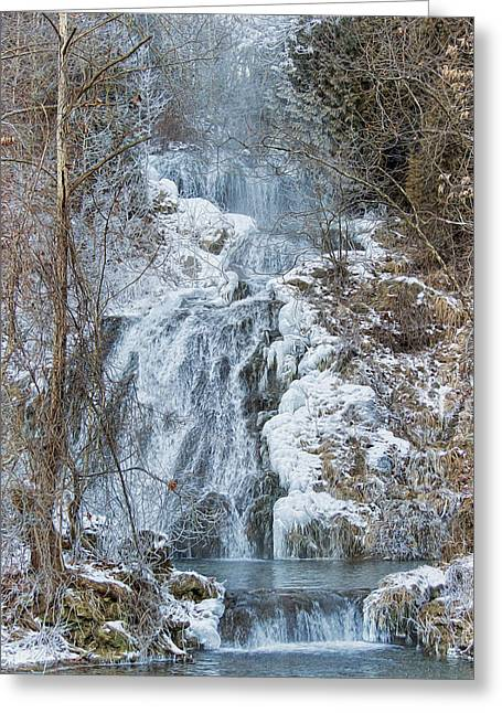 Winter Prints Greeting Cards - Ice Water Greeting Card by Kathy Jennings