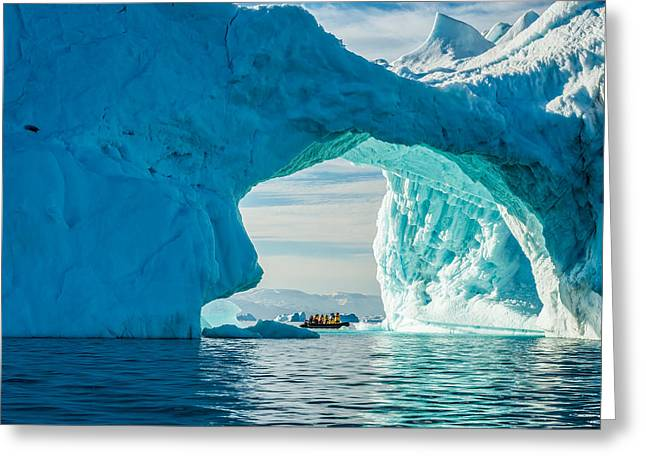 Float Greeting Cards - Iceberg Arch Greeting Card by Duane Miller