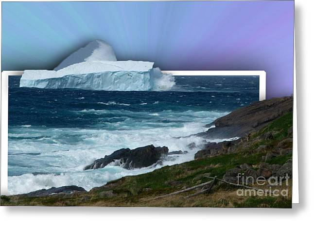 Final Resting Place Digital Art Greeting Cards - Iceberg Escape Greeting Card by Barbara Griffin