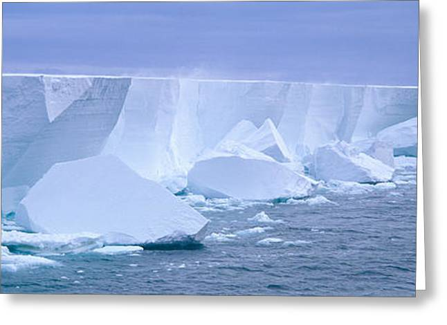 Afloat Greeting Cards - Iceberg, Ross Shelf, Antarctica Greeting Card by Panoramic Images