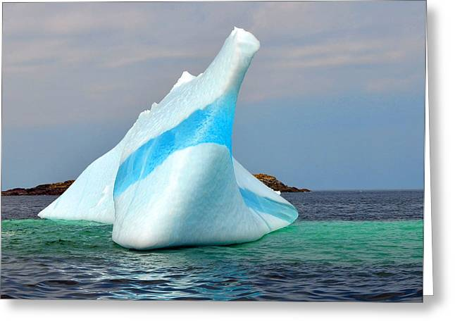 Iceberg Up Close Off Newfoundland Greeting Card by Lisa Phillips