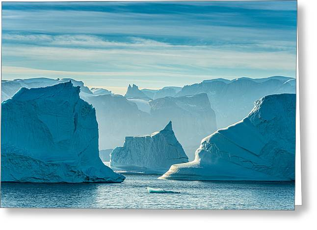 Icy Greeting Cards - Iceberg View - Greenland Travel Photograph Greeting Card by Duane Miller