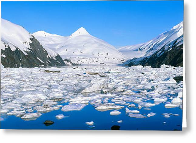 Portage Photographs Greeting Cards - Icebergs In Portage Lake And Portage Greeting Card by Panoramic Images