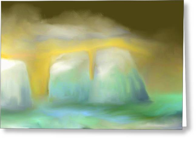 Eerie Greeting Cards - Icebergs Greeting Card by Jessica Wright