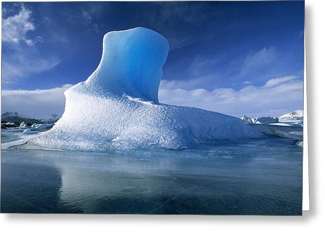 Jan Vermeer Photographs Greeting Cards - Icebergs Jokullsarlon Iceland Greeting Card by Jan Vermeer