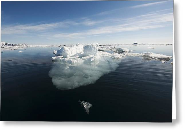 Norwegian Coast Greeting Cards - Icebergs, Norway Greeting Card by Science Photo Library
