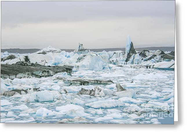 Temperature Greeting Cards - Icebergs Greeting Card by Patricia Hofmeester