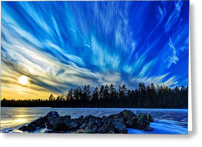 Icebound 3 Greeting Card by Bill Caldwell -        ABeautifulSky Photography