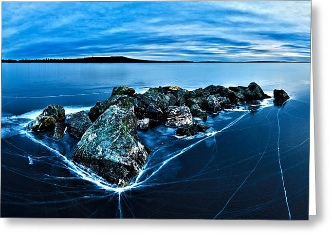 Nature Scene Digital Art Greeting Cards - Icebound 4 Greeting Card by Bill Caldwell -        ABeautifulSky Photography