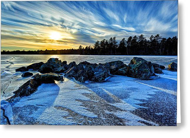 Stones Greeting Cards - Icebound 5 Greeting Card by Bill Caldwell -        ABeautifulSky Photography