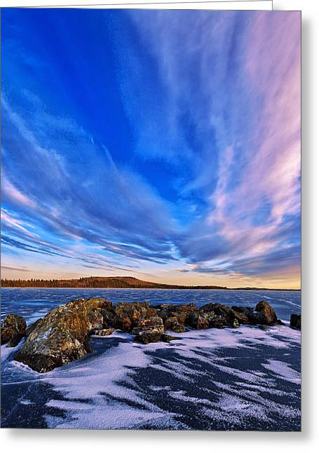 New England Snow Scene Greeting Cards - Icebound 6 Greeting Card by Bill Caldwell -        ABeautifulSky Photography