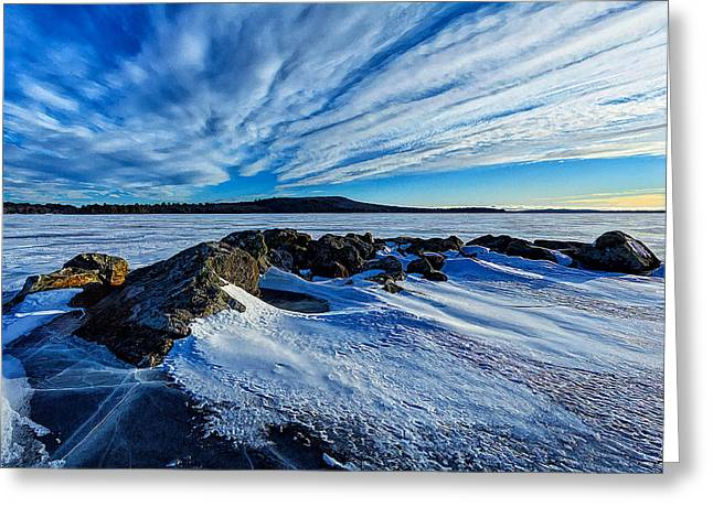 Winter Digital Photo Scene Greeting Cards - Icebound 7 Greeting Card by Bill Caldwell -        ABeautifulSky Photography