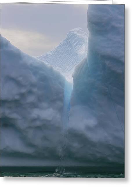 Persuade Greeting Cards - Iceburg 2 Greeting Card by Patsy Zedar