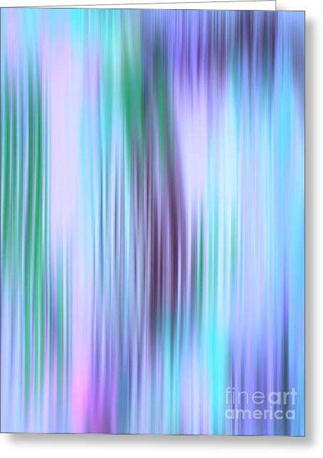 Recently Sold -  - Purple Abstract Greeting Cards - Iced Abstract Greeting Card by Gayle Price Thomas
