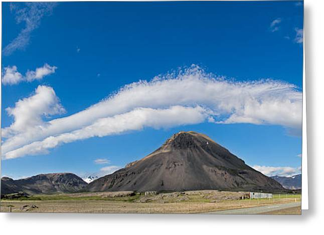 Paradise Road Greeting Cards - Iceland cloudscape panorama Greeting Card by Dirk Ercken