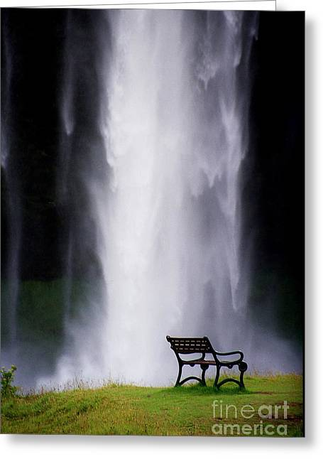 Arie Arik Chen Greeting Cards - Iceland Waterfall Greeting Card by Arie Arik Chen