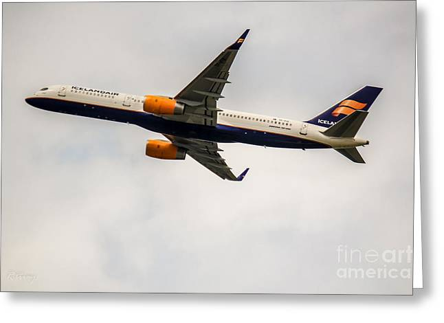 Rene Triay Photography Greeting Cards - IcelandAir Boeing 757 Greeting Card by Rene Triay Photography