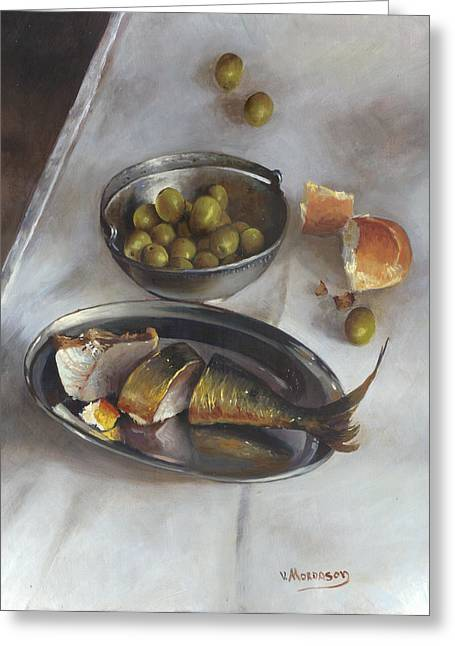 Recently Sold -  - Still Life With Fish Greeting Cards - Icelandic fish Greeting Card by Victor Mordasov