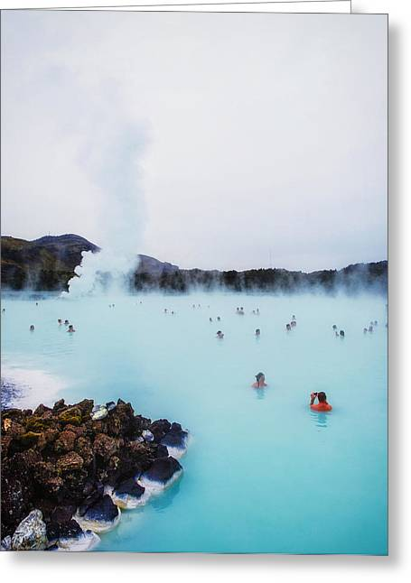 Steam Bath Greeting Cards - Icelandic Hot Springs Greeting Card by Mountain Dreams