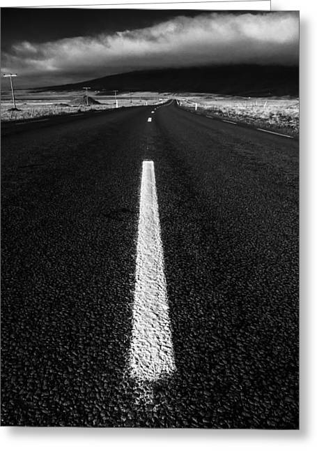 Phot Art Greeting Cards - Icelnd Roadway Greeting Card by Tony Skerl