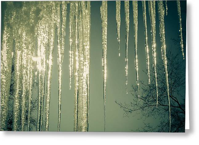 Winter Greeting Cards - Icicle Greeting Card by Dawdy Imagery