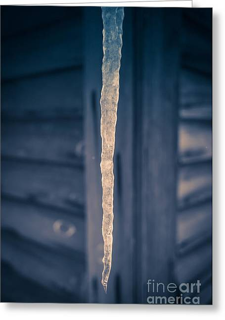 Vermont Winter Greeting Cards - Icicle Greeting Card by Edward Fielding